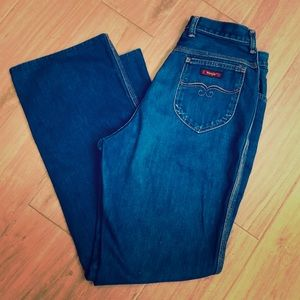 Vintage Early 80's Wrangler High Waisted Jeans 14